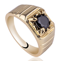 Men 6mm Round Simulated Diamond Black Onyx Blue Sapphire  Ring Size 10 11 12 Fashion Jewelry R113