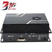 SZBITC 2x2 Video Wall Controller USB HDMI VGA DVI TV 1080P Splicing Processor With Remote Control
