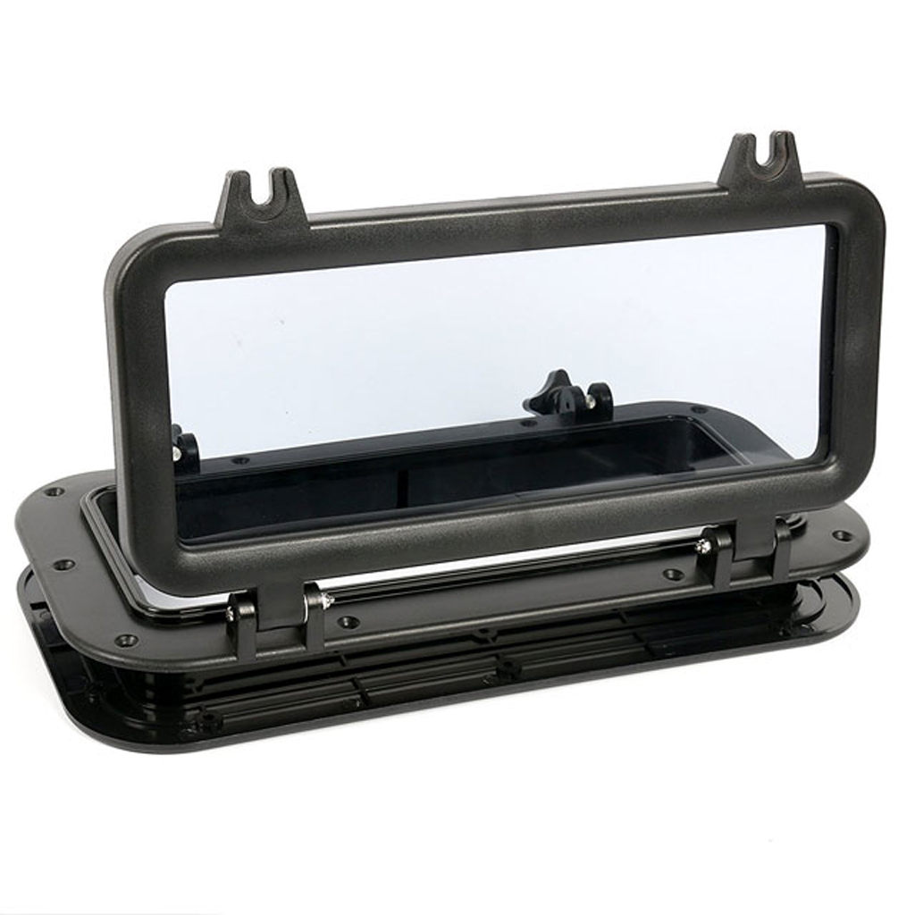 Image 5 - 15.75*7.87″ Marine Window Rectangle Shape Opening Portlight Hatch ABS 4mm Tempered Glass For RV Boat Yacht Etc Boat Accessories-in Marine Hardware from Automobiles & Motorcycles