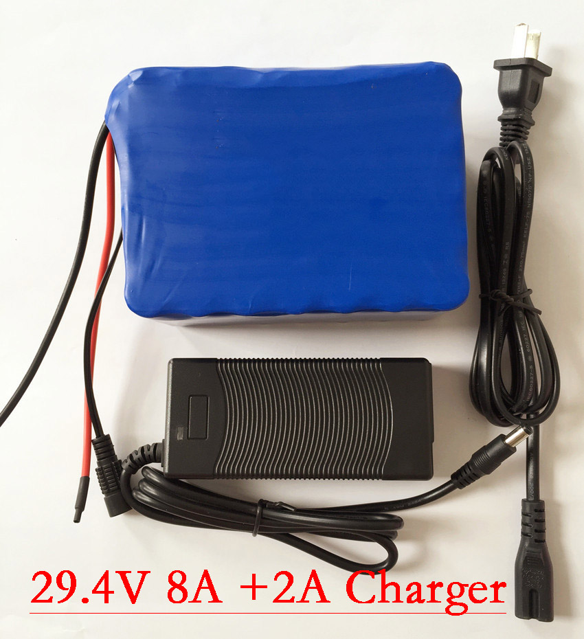 Liitokala 24v 8ah 7S4P battery 15A BMS 250w 29.4V 8000mAh battery pack for wheelchair motor kit electric power+29.4v 2A charger 24v 7s4p 8000mah 8ah 18650 lithium battery for a small motor of the led lamps use a backup power electric bicycle batteries