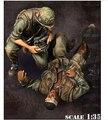 1/35 escala guerra de Vietnam ee.uu. discapacitados y corpsman figura de la resina modelo Kit envío gratis