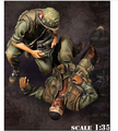 1/35 escala modelo figura de resina deficientes e corpsman Vietnam war eua frete grátis