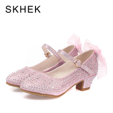 SKHEK kids Girls Sandals Fashion Princess Casual Shoes Kids High Quality Childrens Dance Low Heel Three Colors
