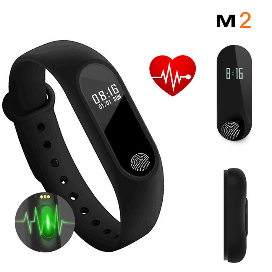 2017 New Arrival Cool Men Women Smart Bracelet Fitness Tracker Heart Rate Monitor OLED Display Screen Rubber Fashion Sport Clasp