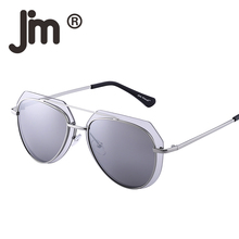 JM Wholesale 10PCS/LOT Bulk Sale Retro Aviation Mirror Gradient Lens Double Metal Frame Sunglasses for Women Men
