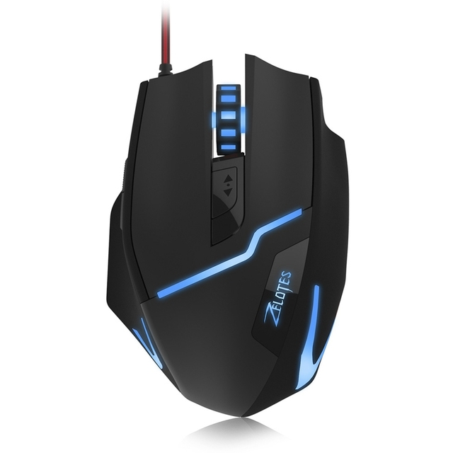 988730c01ac ZELOTES T10 7200DPI Professional USB Wired Optical 7 Buttons Self-defining  Right Hand Gaming Mouse For Computer Games