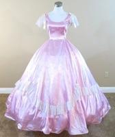 Lavender Gown Civil war costume renaissance dress satin dres