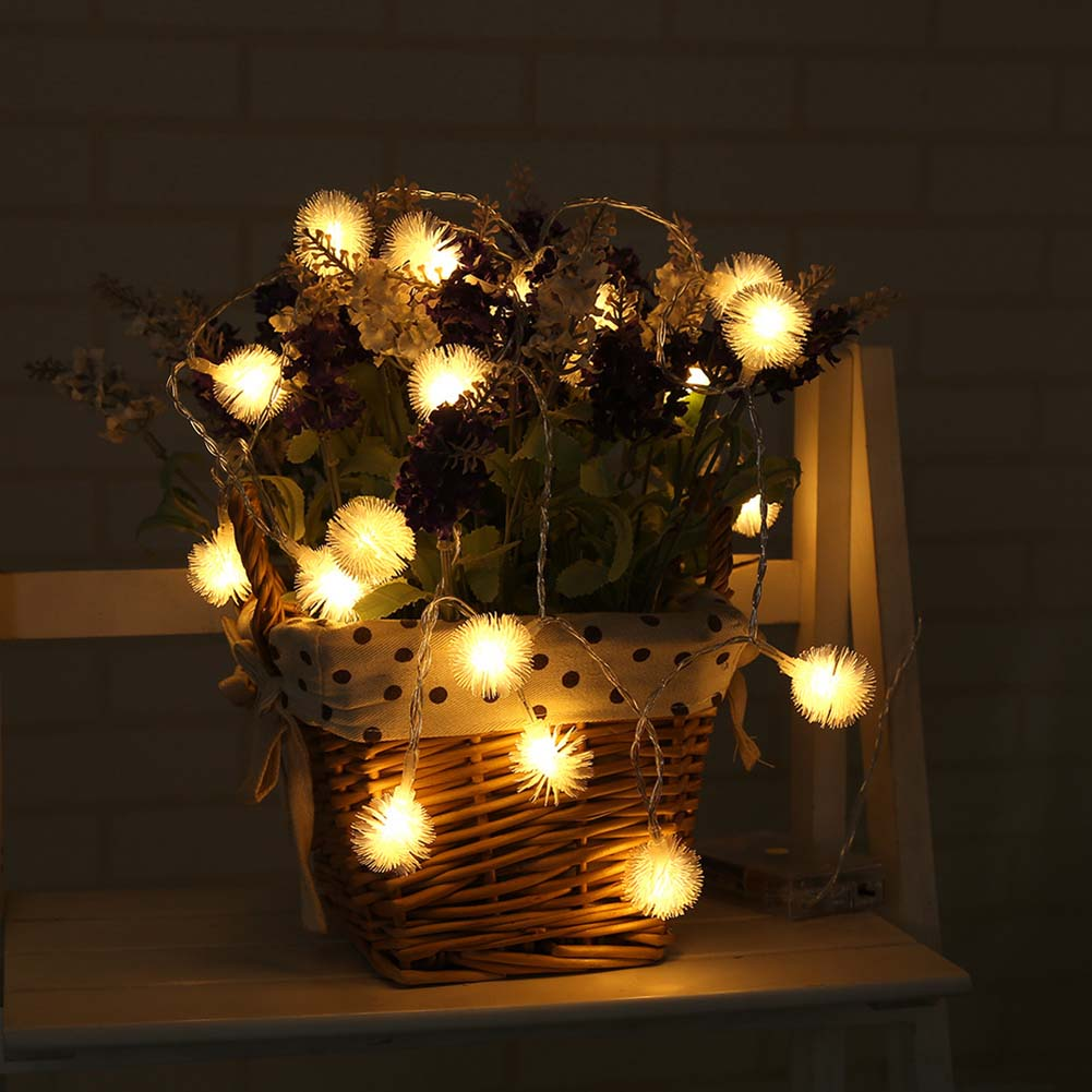 Outdoor Party Lights Us 3 89 25 Off Decoration String Lights 20 Leds Acrylic Fur Balls Lamp For Indoor Outdoor Garden Christmas Party Lights Clh 8 In Lighting Strings