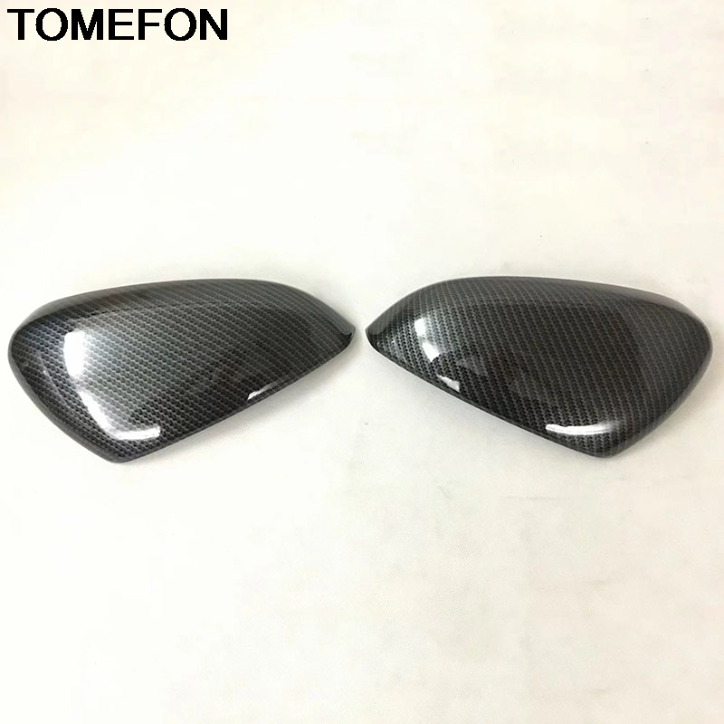 TOMEFON For Peugeot 3008 GT 2017 2018 Reaview Mirror Protector Cover Trim Frame Moulding Exterior Accessories Styling ABS Chrome