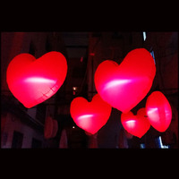 2015 Free shipment width 1.5m LED Inflatable red heart balloon for Valentine's day decoration