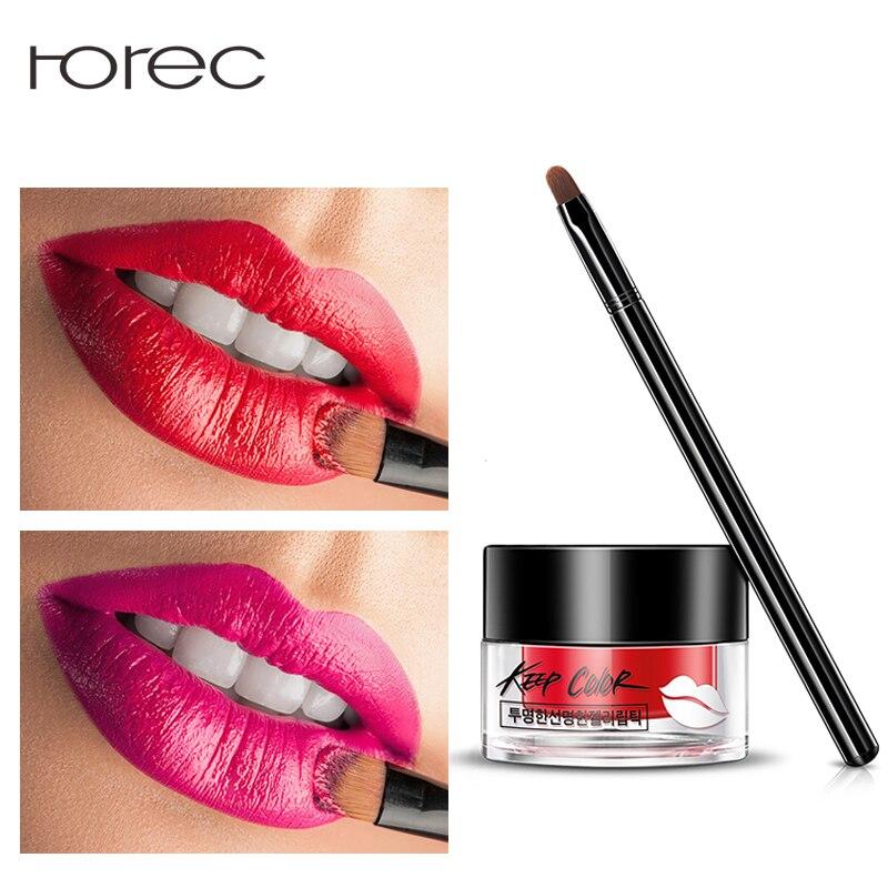 ROREC Beauty Air Cushion Matte Lipstick Velvet Long Lasting Lip Gloss Waterproof Moisture Lip with Brush Beauty Makeup Cosmetics tutu 23 beauty moisture lipstick pink 3 8g