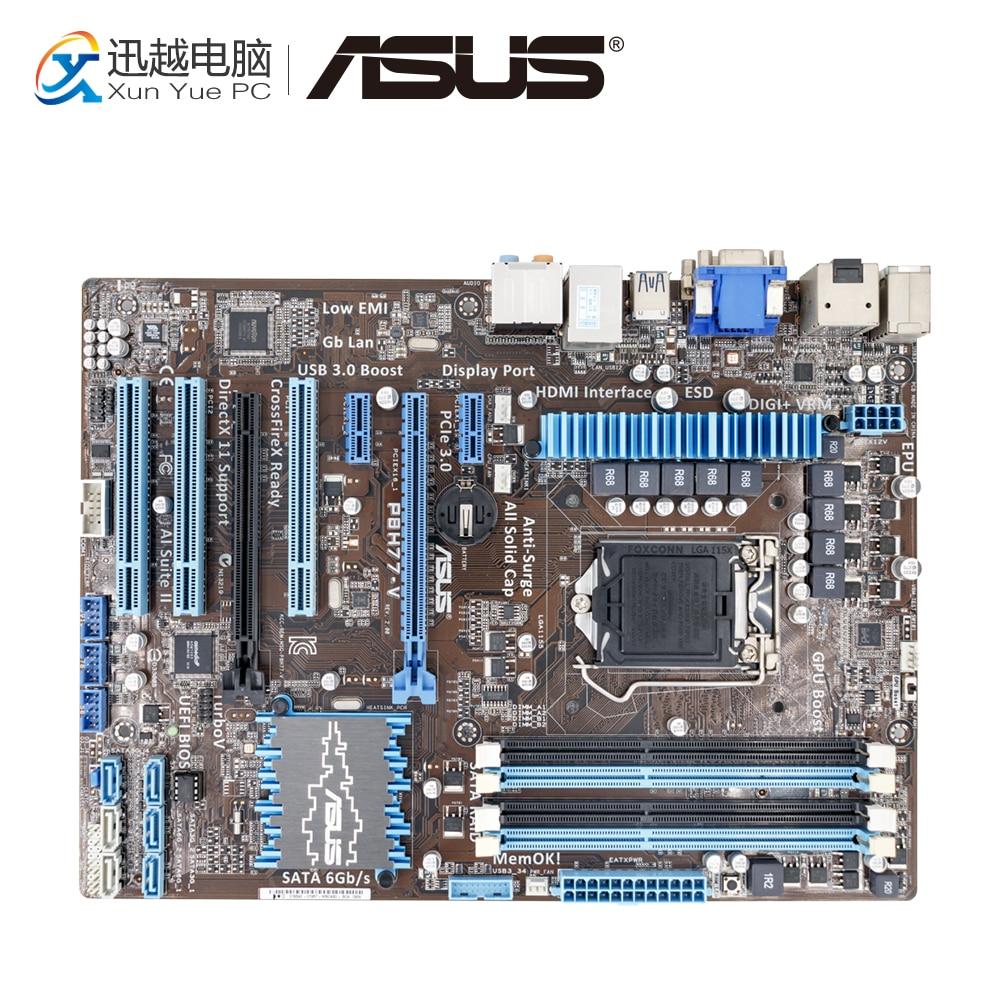 Asus P8H77-V Desktop Motherboard H77 LGA 1155 22nm i3 i5 i7 DDR3 32G SATA3 USB3.0 ATX On Sale used for asus p8h77 m pro motherboard h77 socket lga 1155 i3 i5 i7 ddr3 32g sata3 usb3 0