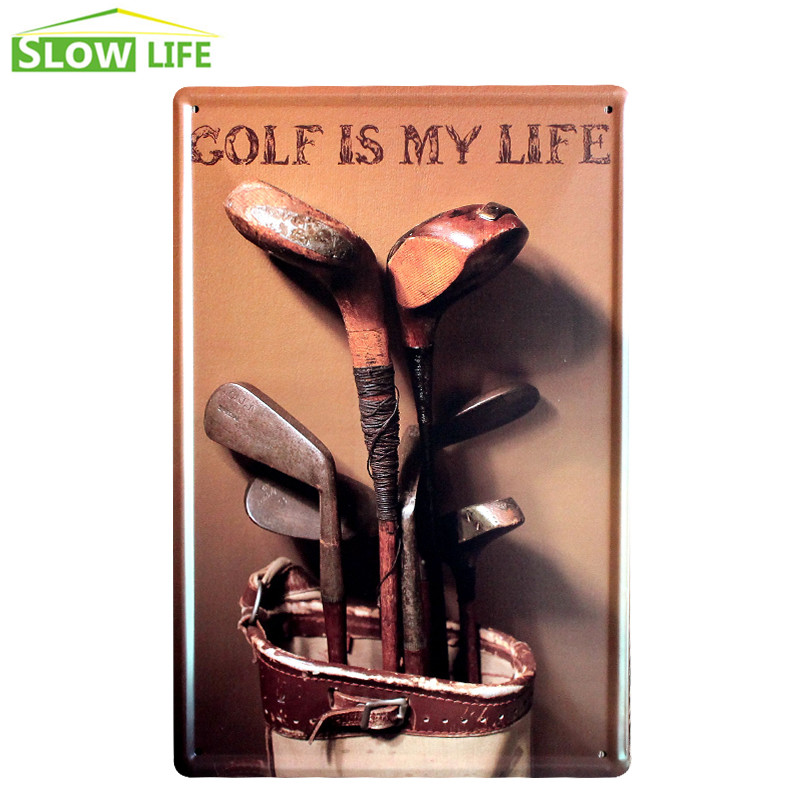 Golf Is My Life Metal Tin Sign House Wall Decor Tin Sign Vintage Home Decor Metal Plaque Retro Metal Plate Vintage Metal Poster
