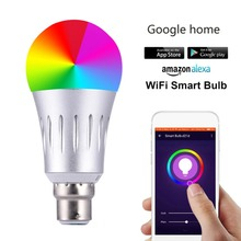 WiFi Smart Light LED Bulb E27 E26 E14 B22 White+RGB Dynamic Lamp With Echo Alexa Google Assistant For iOS and Android Phone