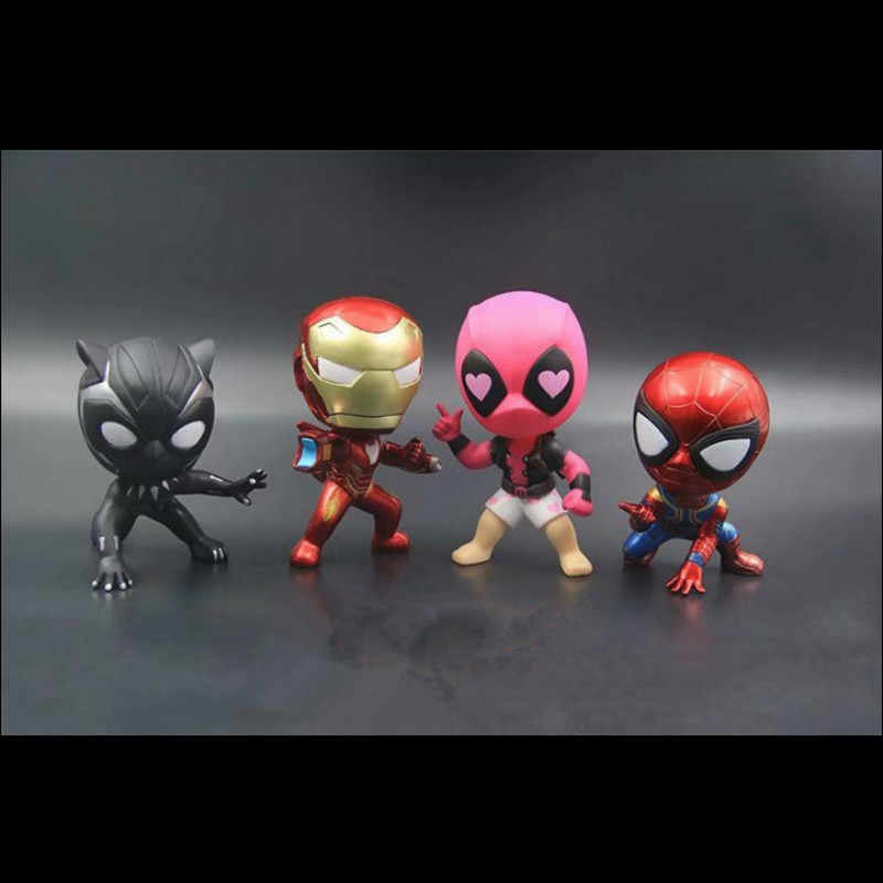 MR TEA Cartoon For Marvel Avengers Hero Shake Head Toy Decoration Doll Dashboard Car Ornament Automotive Decoration