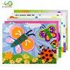 MYHOESWD 10 Pieces Sets 3d Diy Stickers For Kids Paper Jigsaw Puzzle Sticker Eva Foam Sticker