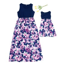 High Waist Mother Daughter Vest Dress Family Look Mommy and Me Clothes Matching Outfits Mom Mama Mum Dresses Clothing