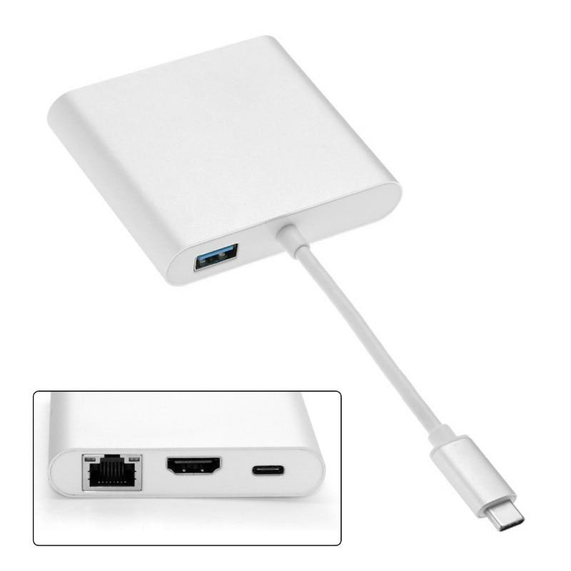 USB-C USB 3.1 Type C to HDMI Digital AV & USB OTG & Gigabit Ethnernet & Female Charger Adapter for Laptop usb c usb 3 1 type c to hdmi digital av