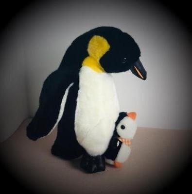 28cm Penguin and son  doll simulation Penguin animal stuffed toy for children birthday gift