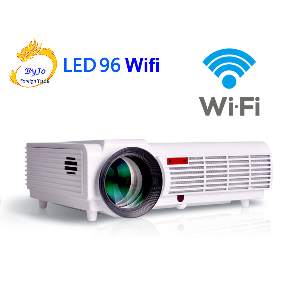 Poner Saund LED96 wifi led projector 3D android wifi hd BT96 proyector 1080p HDMI Video Multi screen theater Home theater system poner saund dlp n1 mini portable projector battery 15000mah android wifi full 3d bluetooth home theater hd 1080p hdmi usb sd