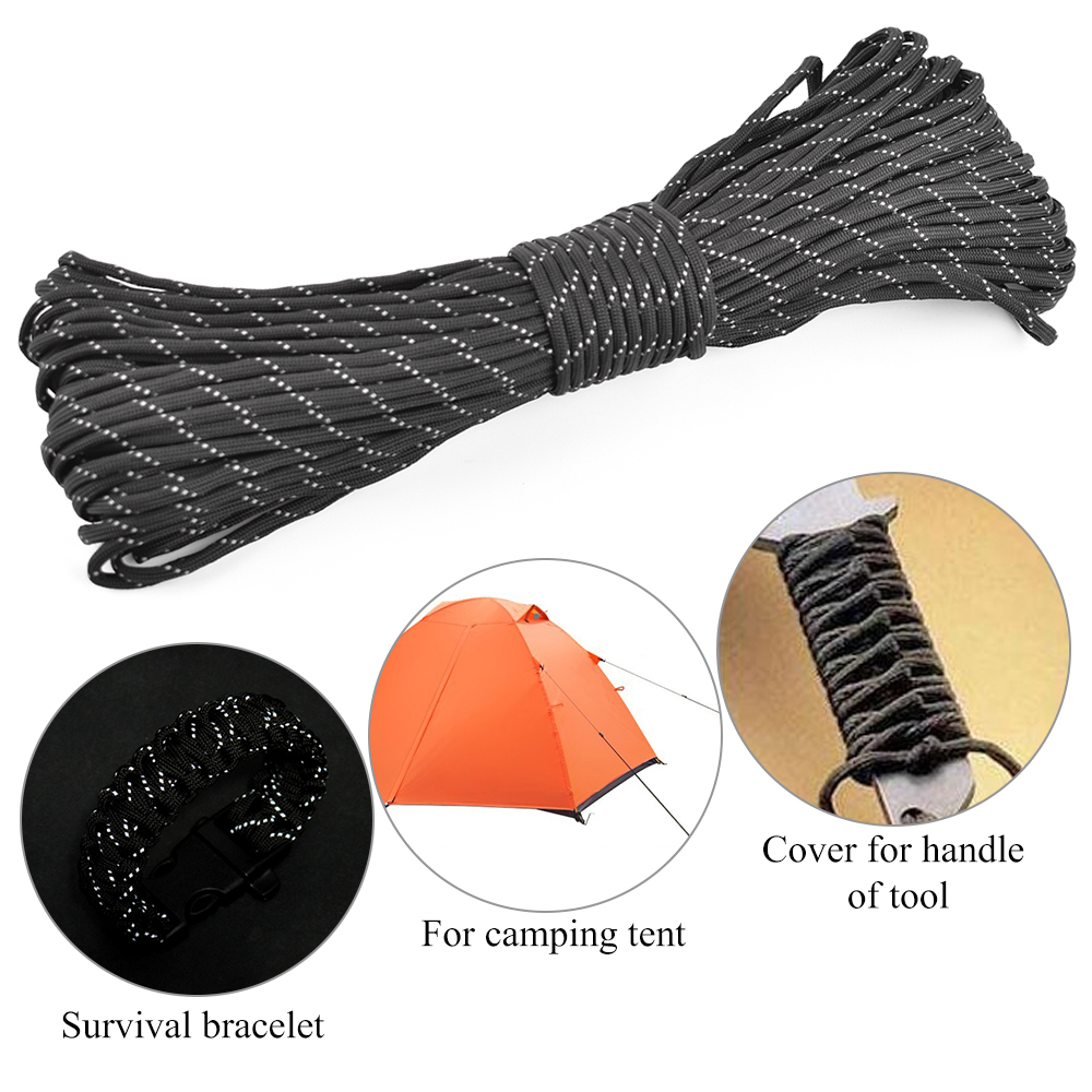 Paracord 550 Parachute rope 7 core beach 25//50 100FT For Climbing Camping