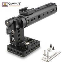 CAMVATE DSLR Top Handle Rig w/ Top Plate 15mm Rod Clamp Cold Shoe Mount C1153 camera photography accessories