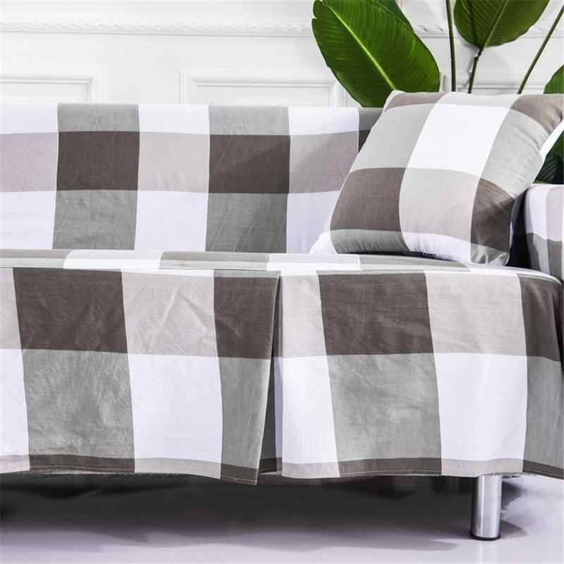 Зимний набор диванов в полоску, простая смесь хлопка, чехол для дивана, протектор для 1 2 3 местный диванов