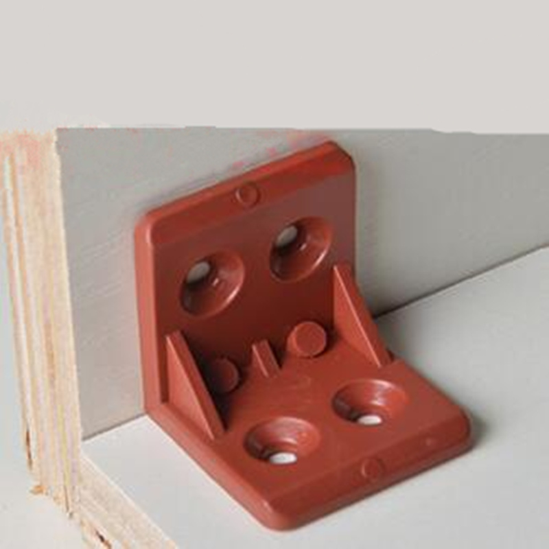 20pcs Nylon plastic thickened Corner Brackets Furniture 90 degree angle corner code Cabinet connectio ned 40x40x20mm practical stainless steel corner brackets joint fastening right angle 2mm thickened furniture bracket with screws