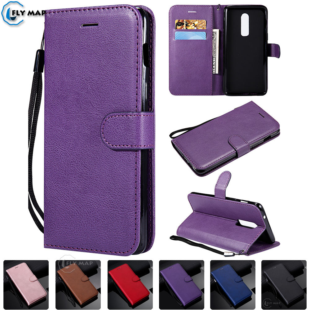 Wallet Case For <font><b>OnePlus</b></font> 6 1 + 6 Flip Phone Leather Cover Capa For One Plus 6 OnePlus6 plus6 <font><b>A6000</b></font> A6003 Silicone Protector Bag image