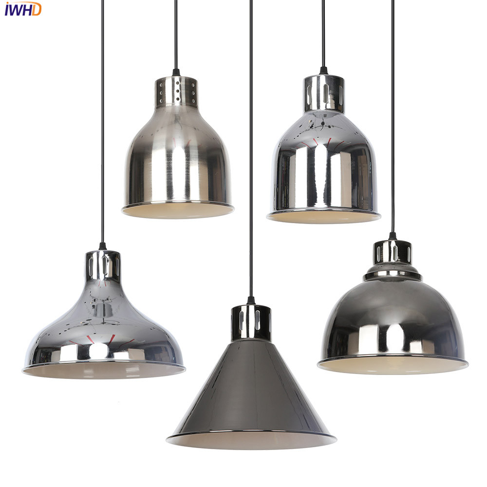 IWHD Creative Nordic Pendant Lamp LED Iron Adjustable Hanglamp Vintage Pendant Light Fixtures Home Lighting Suspension LuminaireIWHD Creative Nordic Pendant Lamp LED Iron Adjustable Hanglamp Vintage Pendant Light Fixtures Home Lighting Suspension Luminaire