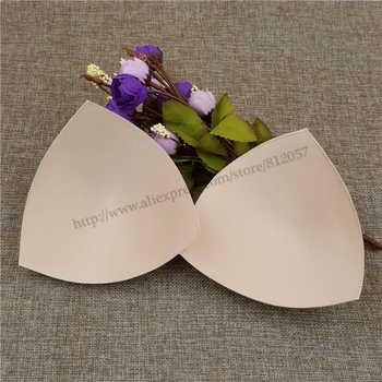 50pairs/lot women high quality Triangle Sponge Bra Pad Removable Insert Breast Bikini Enhancers Intimate Accessorories
