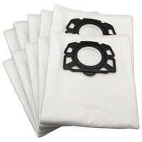 12 peças/lote saco de pó aspirador pó para karcher mv4 mv5 mv6 wd4 wd5 wd6 lavável aspirador saco
