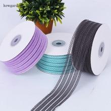 Kewgarden 1-1/2 38mm 1 25mm Hollow Elasticity Satin Ribbons Handmade Tape DIY Bowknot Ribbon Packing Riband  10 Yards /Roll