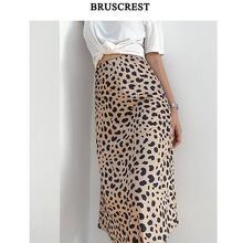 Faldas de verano para mujer, Estilo bohemio de leopardo Vintage, midi, modis rave, ropa de calle punk, falda de cintura alta, ropa coreana, 2019