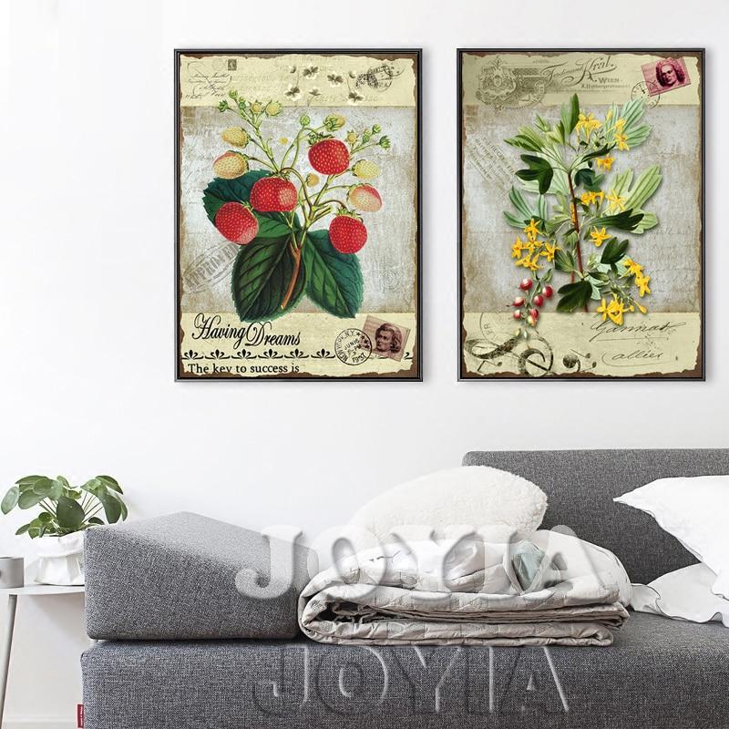っ2 unidades clásico botánico Cuadros decorativos Europa sello ...