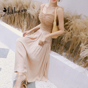 2 Pieces Sets Summer Women Suit Sexy Office Spaghetti Strap Draped Tops and Bandage Pleated Skirts Vintage Two Piece Set Vestido Платье