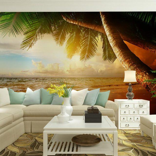 Nature Landscape Hd Photo Wallpaper Wall Murals Sunset Seascape Image Print Living Room Bedroom Wall Decor