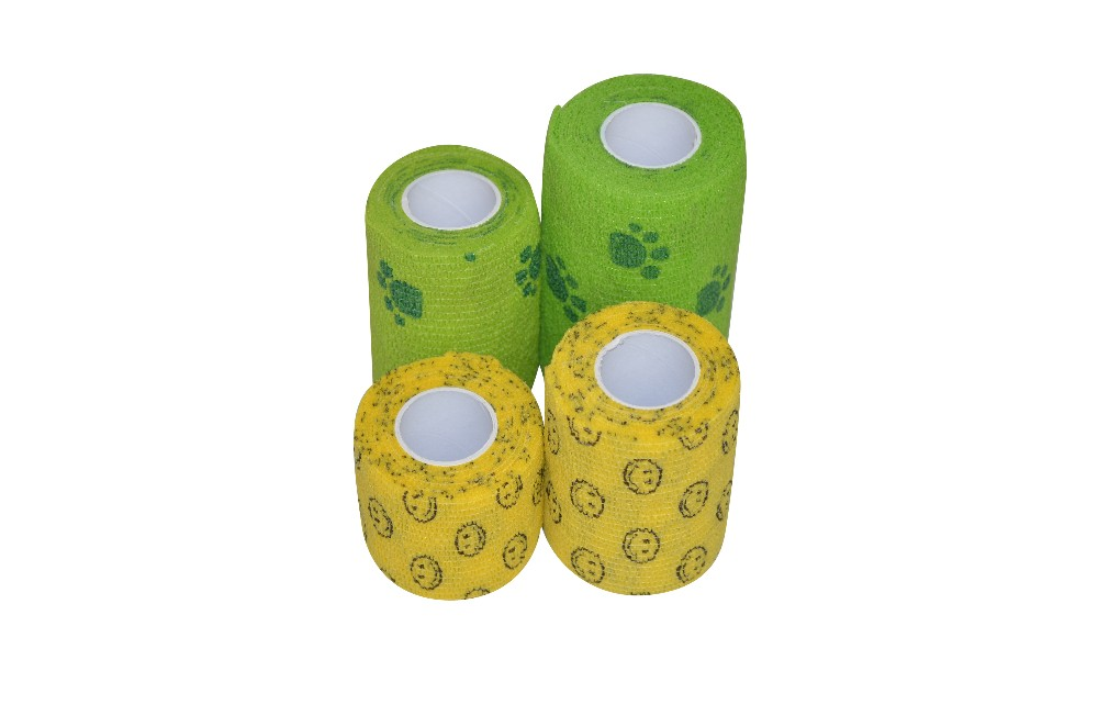 Macure Tape Printed Coban Non woven Self-Adherent Wrap self adhesive Bandage  sports tape 85ea868744a91