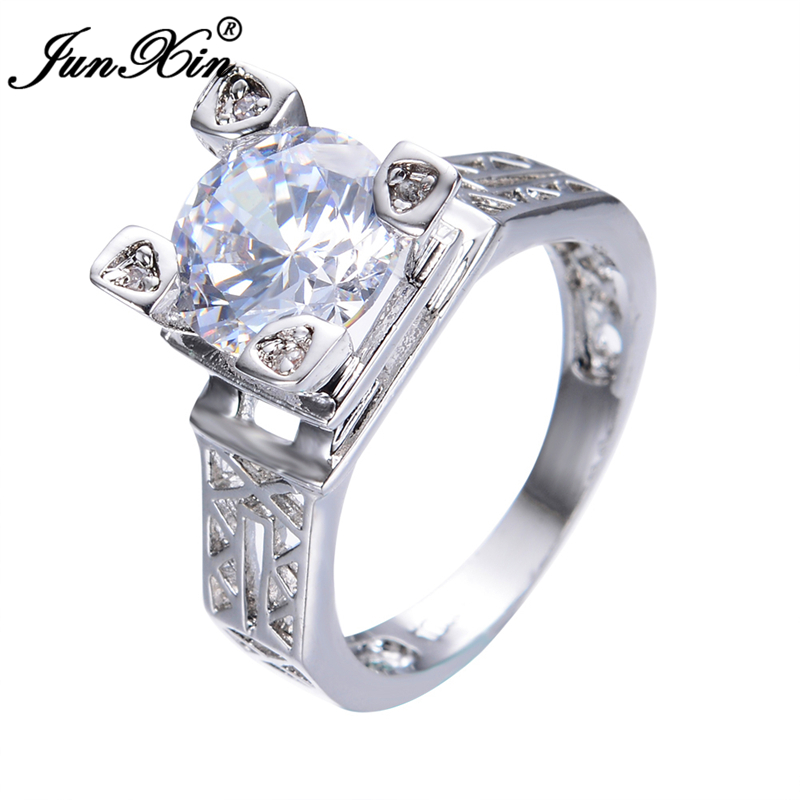 new brand design crystal white male female ring gold filled romantic promise rings for her him