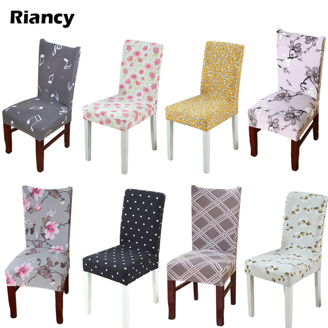 dining chair covers aliexpress rocking runners replacement 1pcs flower christmas stretch home decor cover spandex decoration covering hotel restaurant 43082 4