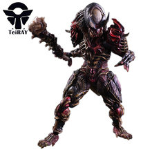 Alien Vs Predator Play Arts Kai Hunter Figma 27cm with Stent Can Movable Movie Pvc Action Figure Anime Figurines KIds Hot Toys