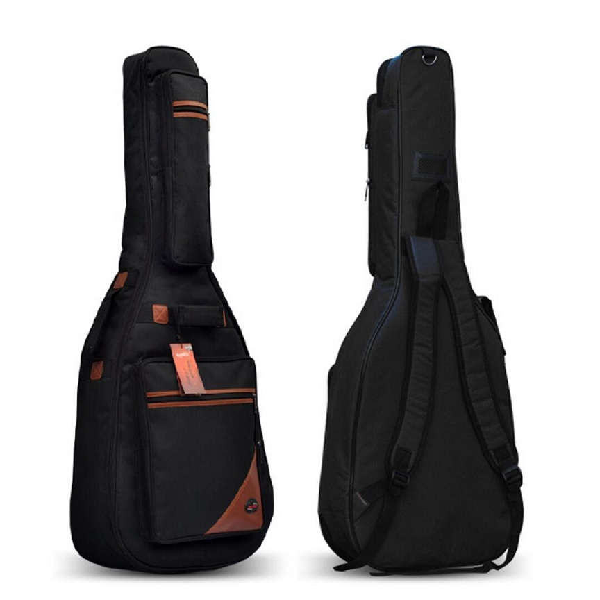 Portable double shoulders 40inch 41inch wood guitar case 41inch 42inch ballad guitar cover plus 42inch acoustic guitar bag parts pattern thicken waterproof soprano concert tenor ukulele bag case backpack 21 23 24 26 inch ukelele accessories guitar parts gig