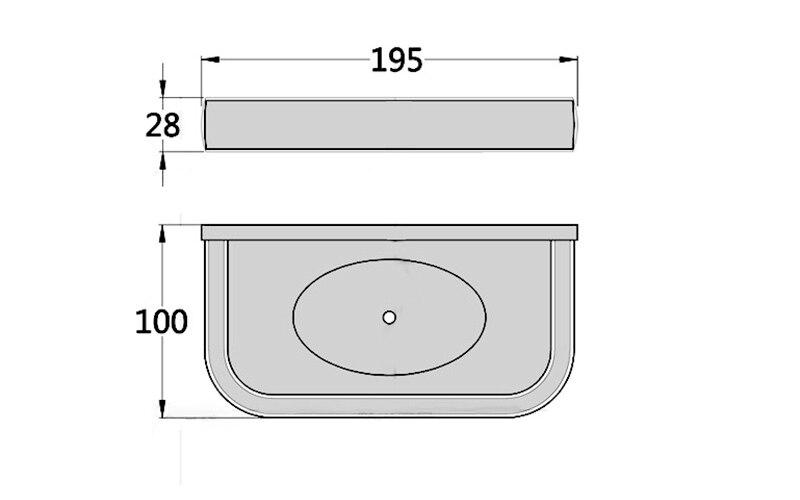 G8500 soap holder chrome size