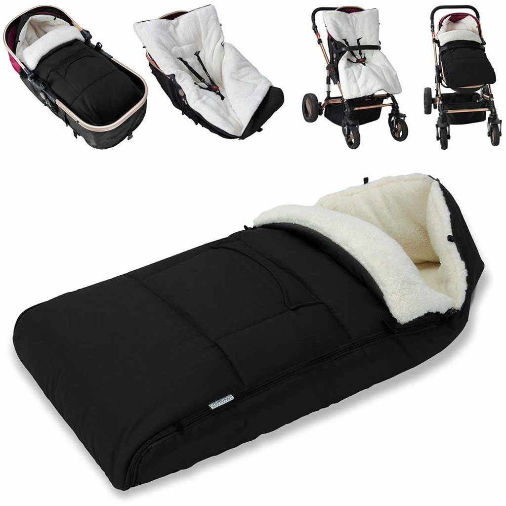 Baby New Universal Footmuff Cosy Toes Apron Liner Buggy Pram Toddler Cotton Blends Stroller Sleep Bag Footmuff Winter Warm 0-3T