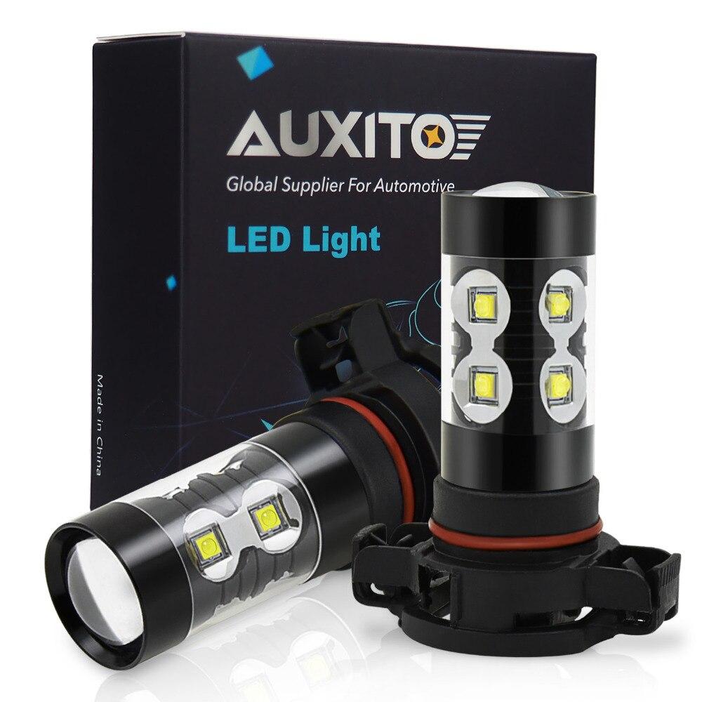 PSX24W LED H27 H10 H16 H11 H8 H10 Car Fog Light 50W H3 9006 HB4 880 881 DRL Bulbs For Mitsubishi  Lexus Infiniti Nissan Peugeot