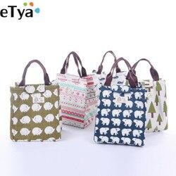 الأزياء قماش النساء معزول الغداء حقيبة حقيبة علب الاغذية الحرارية الغذاء نزهة الغداء الحقيبة للأطفال برودة حقيبة التخزين حقيبة