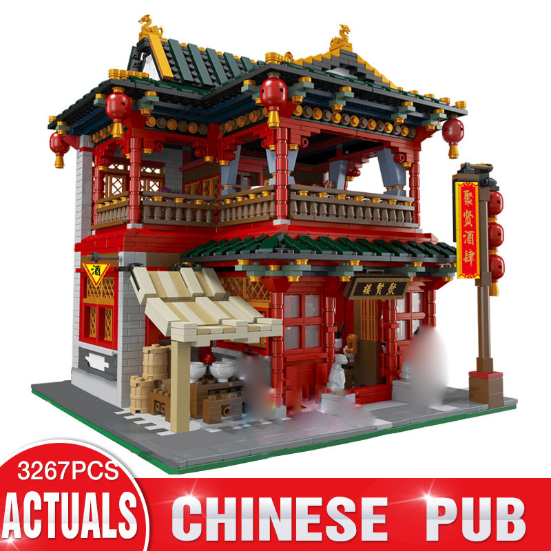 Xingbao 01002 3267Pcs MOC Creative Series Tavern Castle LegoINGly Plate Sets Building Nano Block DIY Bricks Toys For Kids lepin 42010 590pcs creative series brick box legoingly sets building nano blocks diy bricks educational toys for kids gift