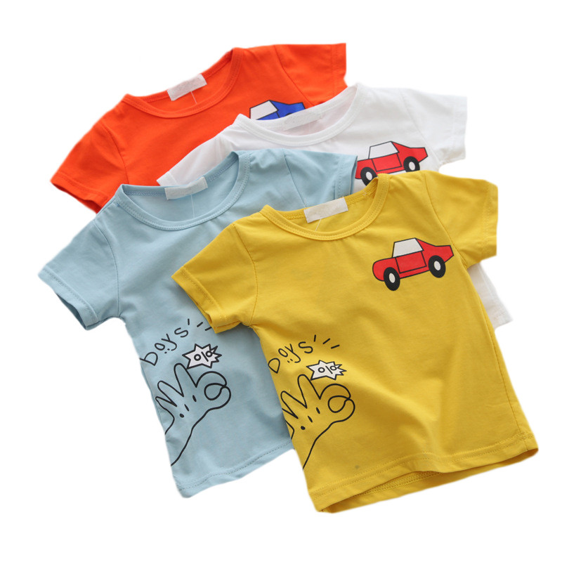 Cartoon Car Baby Boys T-Shirts Summer Baby Short Sleeve Tops Fashion Baby Boy's Clothing Kids T-shirts For Boys