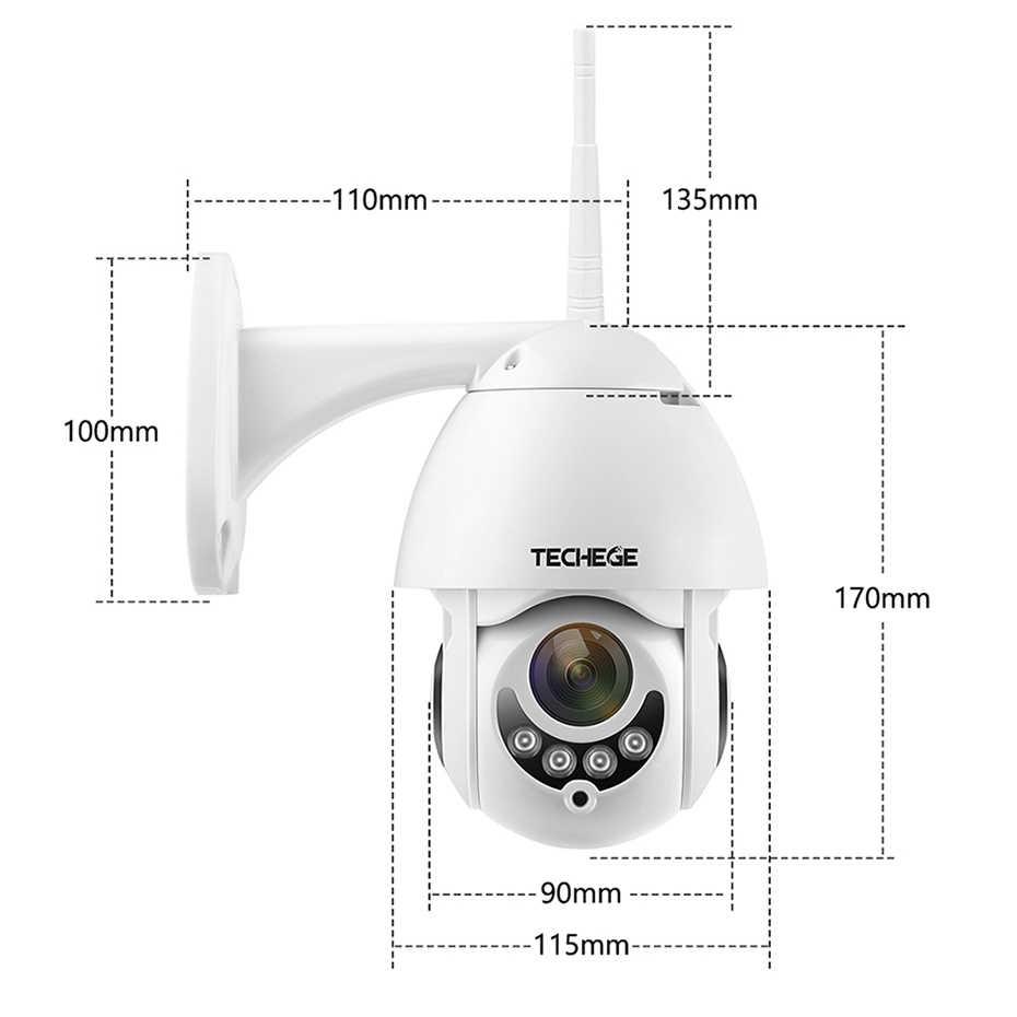 Techege 1080P Không Dây IP Pan/Nghiêng Hai Cách Thảo Luận 2MP MINI Wifi An Ninh Camera quan sát Khe TF ngoài trời trong nhà Chống Thấm Nước