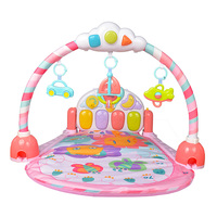 GOODWAY New Arrival Baby Play Gym Mat Music Piano Gym Carpet Toy for Baby Early Education Color Pink